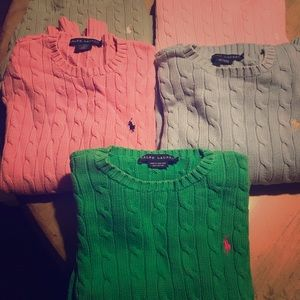 Ralph Lauren cotton sweaters,  beautiful condition
